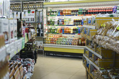 Gas station store interior. Very high resolution, 42.2 megapixels. It is a gas station inside the store in Italy. Photo taken on: June 05, 2016 royalty free stock image