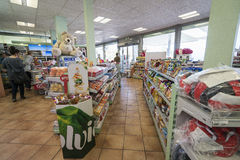Gas station store interior Royalty Free Stock Image