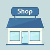 Shop isolated icon. Modern shop building. Royalty Free Stock Photos