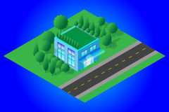 Shop Isometric Low Polygon icon Stock Photography