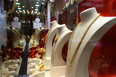Shop Jewellry im Kaufhaus Stockbild