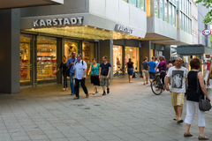 Shop Karstadt, on the Kurfuerstendamm. BERLIN - JULY 24: Shop Karstadt, on the Kurfuerstendamm. Karstadt - Germany's largest retail network of more than 25,000 Stock Images