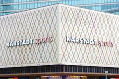 Shop Karstadt Sport, on the Kurfuerstendamm. BERLIN - JULY 24: Shop Karstadt Sport, on the Kurfuerstendamm. Karstadt - Germany's largest retail network of more Royalty Free Stock Image