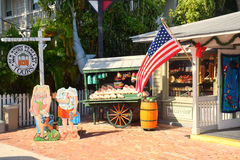 Shop  in key west. Streetscape in key west, a lovely place Stock Images