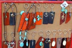 Shop Keychain handgemacht Stockfotografie