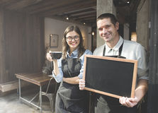 Shop-Konzept Barista Staff Working Coffee stockfotos