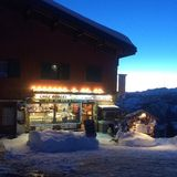 Shop at La Rosiere in the French Alps stock images
