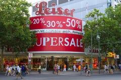 Shop at Leiser Kurfuerstendamm Royalty Free Stock Image