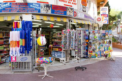Shop in Lloret de Mar Royalty Free Stock Photography