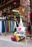 Shop in Lloret de Mar Royalty Free Stock Image