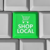 Shop Local Computer Key Shopping Cart Support Community Royalty Free Stock Photo