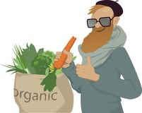 Shop local, eat organic Stock Photo
