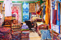 Shop of local fabrics sale. In a shop Mutrah Souk, in Mutrah, Muscat, Oman, Middle East Stock Photography
