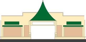Shop lot. A front view of a shop lot, vector, illustration Stock Images