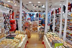 Shop in Madrid. Souvenir shop in Madrid, Spain stock image