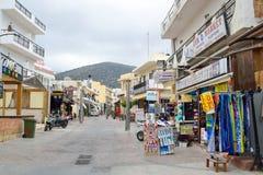 Shop in Malia. Royalty Free Stock Image