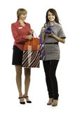 Shop manager and customer Stock Images
