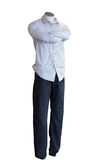 Shop Mannequin with Folded Arms Royalty Free Stock Photos