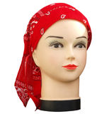 Shop Mannequin with red bandana Royalty Free Stock Images