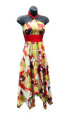 Shop Mannequin wearing a floral Dress Royalty Free Stock Photo