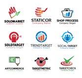 Shop-Marketing-Design-Illustration Stockbild