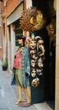 Shop masks in Venice, Italy Royalty Free Stock Photos
