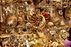 Shop of Masks of Venice Royalty Free Stock Photo