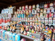 Matryoshka dolls stock images