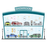 Shop mit Autos Verkauf und Miete von Autos Stockbild