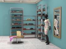 Shop mit Modekleidung Lizenzfreies Stockfoto