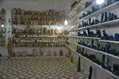 Shop mit Zahlen, Dekorationsartikelsammlungen stockbild