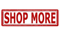 Shop more. Stamp with text shop more inside,  illustration Royalty Free Stock Photography