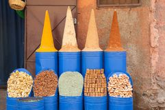 Shop moroccan spices Stock Images