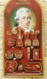 Shop with Mozart chocolate Stock Photos