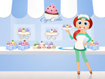 Shop of muffins Stock Images