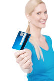 Shop with new credit card ! Royalty Free Stock Images