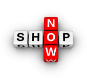 Shop now icon Royalty Free Stock Images