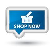 Shop now prime blue banner button Royalty Free Stock Photos