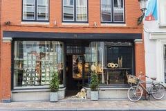 Shop oder Kunstgalerie in Brügge, Belgien Stockbilder