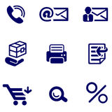 Shop and office icons set Stock Image