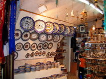 At the shop in old Jerusalem royalty free stock images