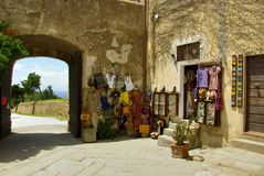 Shop in old village, Italy Royalty Free Stock Photos