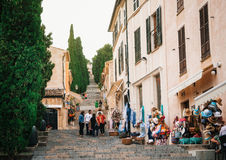 Free Shop On The Stairway To The Calvary In Pollensa, Mallorca Royalty Free Stock Photography - 81454747
