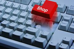Shop online. Shopping Key stock photos