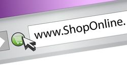 Shop online browser concept illustration Royalty Free Stock Photography
