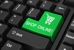 Shop online Button Royalty Free Stock Images