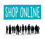 Shop Online Consumer Delivery Customer Concept Royalty Free Stock Photos