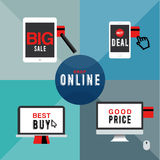 SHOP ONLINE Royalty Free Stock Image