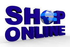 Shop online, global, network, Internet, www... Royalty Free Stock Photography