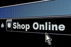 Shop Online Internet Concept. Shop Online concept on an internet browser URL address Royalty Free Stock Photography